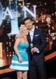Hollie Cavanaugh hugs Ryan Seacrest as she is kicked off AMERICAN IDOL Season 11   (c) 2012 Michael Becker / FOX