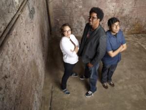 Janine Brito, W. Kamau Bell, Hari Kondabol in TOTALLY BIASED - Season 1 - Bell2 | ©2012 FX/Matthias Clamer