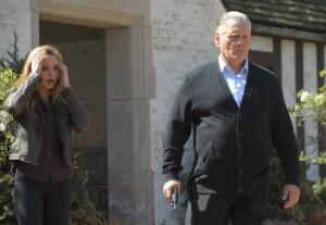 "Jordana Spiro and William Forsythe in THE MOB DOCTOR - Season 1 - ""Pilot""   ©2012 Fox/Nathaniel Bell"