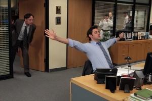 "Rainn Wilson and John Krasinski in THE OFFICE - Season 9 - ""Junior Salesman"" | ©2013 NBC/Chris Haston"
