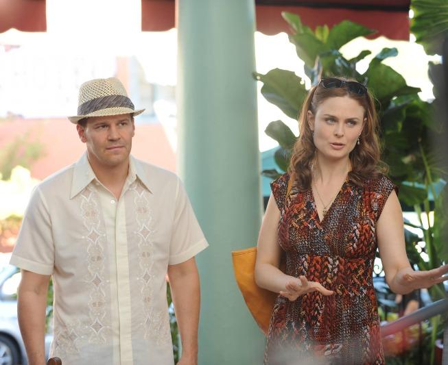 Emily Deschanel and David Emily Deschanel Bones Season 9