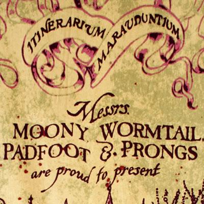 harry potter marauders map font