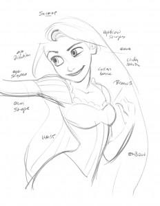 Rapunzel concept art from TANGLED | ©Disney Enterprises, Inc.