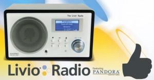 Livio Radio featuring Pandora | © 2010 Livio Radio
