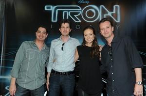 TRON: LEGACY's Eric Barba, Joseph Kosinski, Olivia Wilde, Sean Bailey | ©2010 Disney Enterprises, Inc.