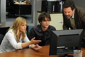 "A.J. Cook and Matthew Gray Gubler in CRIMINAL MINDS - Season Six - ""Devil's Night""   ©2010 CBS"