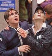 "Logan Huffman and Elizabeth Mitchell in V - Season Two - ""Red Rain""  ©2011 ABC/Marcel Williams"