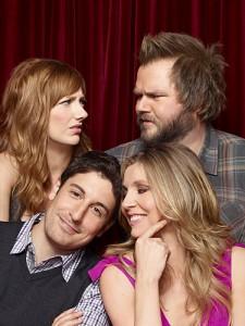 Judy Greer, Tyler Labine, Jason Biggs and Sarah Chalke in MAD LOVE - Season 1 | ©2011 CBS/Matthias Clamer