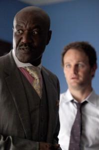 "Delroy Lindo and Jason Clarke in THE CHICAGO CODE - Season 1 - ""Hog Butcher"" | ©2011 Fox/Jeffrey Garland"