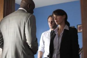 "Jennifer Beals, Jason Clarke and Delroy Lindo in THE CHICAGO CODE - Season 1 - ""Hog Butcher"" | ©2011 Fox/Jeffrey Garland"