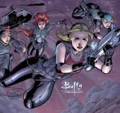 Buffy and the Slayers from BUFFY THE VAMPIRE SLAYER SEASON EIGHT | © 2011 Dark Horse Comics