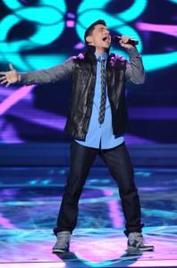 "Stefano Langone performs on AMERICAN IDOL - Season 10 - ""The Top 13""   ©2011 Fox/Ray Mickshaw"