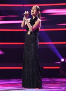 "Karen Rodriguez performs on AMERICAN IDOL - Season 10 - ""The Top 13"" | ©2011 Fox/Ray Mickshaw"
