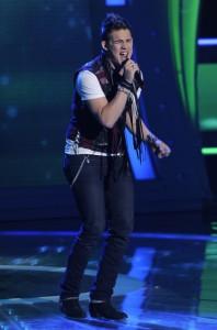 "James Durbin performs on AMERICAN IDOL - Season 10 - ""The Top 13""   ©2011 Fox/Ray Mickshaw"