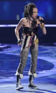 "Naima Adedapo performs on AMERICAN IDOL - Season 10 - ""The Top 13""   ©2011 Fox/Ray Mickshaw"