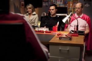 "Jane Lynch, Jessalyn Gilsig, Cheyenne Jackson and Stephen Tabolowsky in GLEE - Season 2 - ""A Night of Neglect"" | ©2011 Fox/Adam Rose"