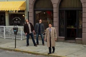 "Jared Padalecki, Jensen Ackles, Misha Collins in SUPERNATURAL - ""Season 6"" - ""My Heart Will Go On""   ©2011 The CW/Jack Rowand"