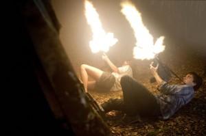 Allison Miller and Landon Liboiron in TERRA NOVA - Season 1   ©2011 Fox/Brook Rushton