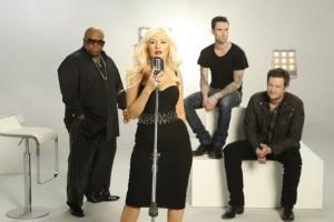 Cee Lo Green, Christina Aguilera, Adam Levine, Blake Shelton in THE VOICE - Season 1 | ©2011 NBC/Michael Desmond