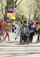 "The cast of GLEE (L-R: Ashley Fink; Dianna Agron; Lea Michele; Heather Morrison; Kevin McHale; Jenna Ushkowitz; Amber Riley, Naya Rivera) visits New York in the Season 2 finale - ""New York"" | ©2011 Fox/Craig Blankenhorn"