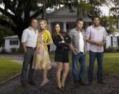 Scott Porter, Jaime King, Rachel Bilson, Wilson Bethel and Cress Williams in HART OF DIXIE - Season 1   ©2011 The CW/Mathieu Young