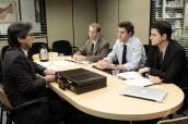 "Ray Romano, Paul Lieberstein, John Krasinski and Zach Woods in THE OFFICE - Season 7 - ""Search Committee"" | ©2011 NBC/Chris Haston"