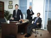 Breckin Meyer, Malcolm McDowell and Mark-Paul Gosselaar in FRANKLIN & BASH - Season 1 |©2011 TNT