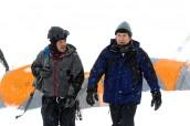 "Christian Kane and Timothy Hutton in LEVERAGE - Season 4 - ""The Long Way Down Job""   ©2011 TNT/Erik Heinila"