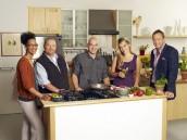 Carla Hall, Mario Batali, Michael Symon, Daphne Oz, Clinton Kelly host THE CHEW - Season 1 } ©2011 ABC/Craig Sjodin
