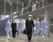 Karine Vanasse, Michael Mosley, Margot Robbie, Mike Vogel, Christina Ricci, Kelli Garner in PAN AM - Season 1 | ©2011 ABC/Bob D'Amico