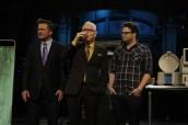 Alex Baldwin, Steve Martin and Seth Rogen on SATURDAY NIGHT LIVE - Season 37 premiere | ©2011 NBC/Dana Edelson