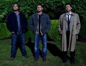 """Jared Padalecki, Jensen Ackles and Misha Collins in SUPERNATURAL - Season 6 - """"The Third Man""""   Misha Collins in SUPERNATURAL   ©2010 The CW/Jack Rowand"""