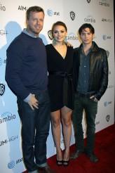 McG, Aimee Teegarden and Jackson Rathbone at the Premiere of the First 'Social Series' AIM HIGH | ©2011 Sue Schneider