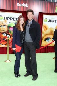 Alyson Hannigan and Alexis Denisof at the World Premiere of Disney's THE MUPPETS | ©2011 Sue Schneider