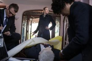 "Seth Gabel, Anna Torv and Jasika Nicole in FRINGE - Season 4 - ""Wallflower""   ©2011 Fox/Liane Hentscher"