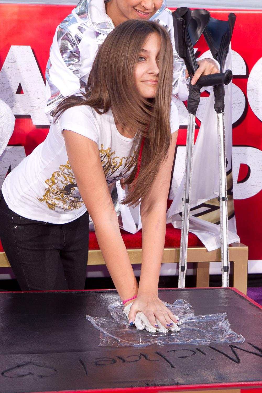 Paris Jackson At The Michael Jackson Hand Amp Footprint