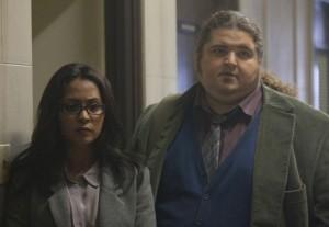 "Parminder Nagra and Jorge Garcia in ALCATRAZ - Season 1 - ""Pilot"" | ©2012 Fox/Liane Hentscher"
