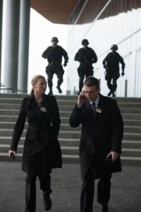 "Anna Torv and Seth Gabel in FRINGE - Season 4 - ""Forced Perspective""| ©2012 Fox/Liane Hentscher"
