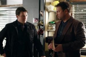 "Nathan Fillion and Adam Baldwin in CASTLE - Season 4 - ""Headhunters""   ©2012 ABC/Ron Tom"