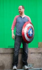 Joss Whedon on the set of THE AVENGERS   (c) 2012 Marvel