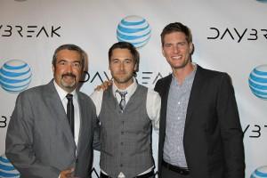 Jon Cassar, Ryan Eggold and Ryan McPartlin at the premiere of the Web series DAYBREAK | ©2012 Sue Schneider