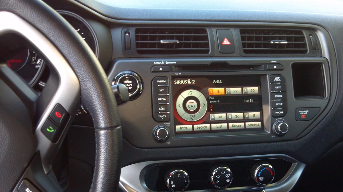 Car Review 2012 Kia Rio 5 Door Sx Assignment X Rio5 Interior Dash Of The