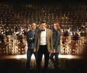 "Arthur Darvill, Matt Smith and Karen Gillan in DOCTOR WHO - Series 7 - ""Asylum of the Daleks"" | ©2012 BBC"