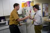 "Rainn Wilson and Clark Duke in THE OFFICE - Season 9 - ""New Guys"" | ©2012 NBC/Justin Lubin"