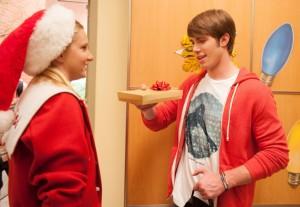 "Heather Morris and Chord Overstreet in GLEE - Season 4 - ""Glee, Actually"" | ©2012 Fox/Eddy Chen"