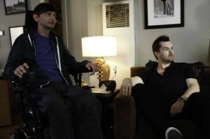 "DJ Qualls and Jim Jefferies in LEGIT - Season 1 - ""Dreams"" | ©2013 FX/Jordin Althaus"