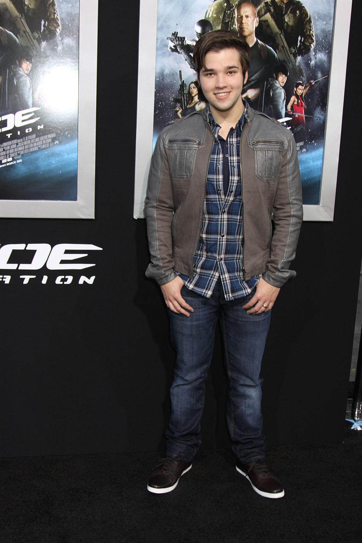 Nathan Kress at the Los Angeles premiere of G.I. JOE ...
