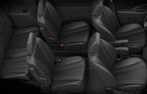 The seating of the Mazda5 | ©2013 Mazda