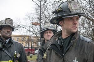 "Eamonn Walker, Taylor Kinney and Jesse Spencer in CHICAGO FIRE - Season 1 - ""Viral""   ©2013 NBC/Matt Dinerstein"