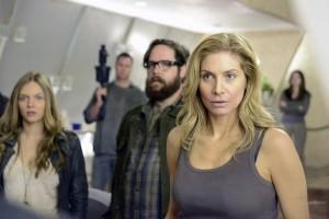 "Rachel (Elizabeth Mitchell), Aaron (Zak Orth) and Charlie (Tracy Spirdakos) confront who lives in the Tower on Revolution ""Children of Men"" | (c) 2013 Brownie Harris/NBC"